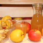 Apfelsaft und Köstlichkeiten vom Apfel